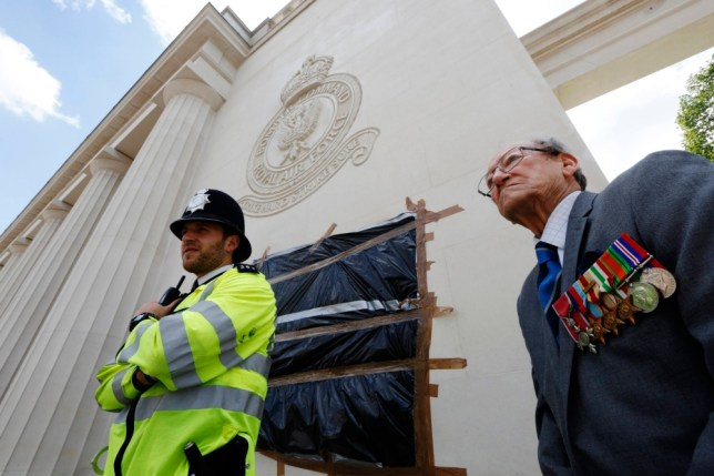 RAF memorial defaced for second time following Lee Rigby's murder