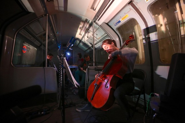 Orchestra goes underground for new fans at abandoned Tube station