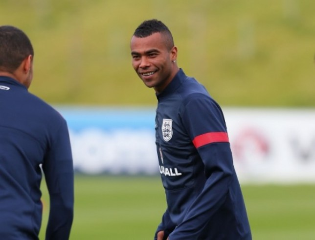 BURTON-UPON-TRENT, ENGLAND - MAY 27:  Ashley Cole of England looks on during a training session at St Georges Park on May 27, 2013 in Burton-upon-Trent, England.  (Photo by Alex Livesey/Getty Images)
