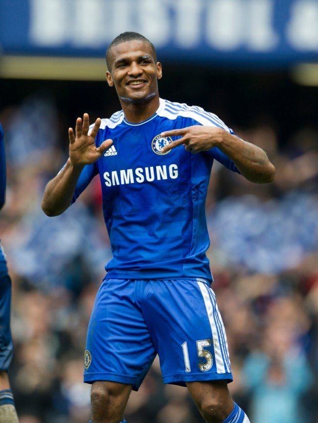 Florent Malouda celebrates after he scores the 6th goal for Chelsea  Premier League Chelsea 6 v Queens Park Rangers 1 Stamford Bridge 29/04/2012 Credit Image: Andy Hooper/Daily Mail/Solo Syndication)   . REXMAILPIX.