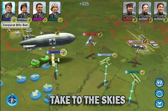 Sid Meier's Ace Patrol (iOS) – they go up tiddly up up