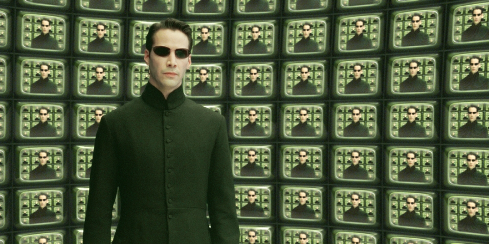 """Films: The Matrix Reloaded. (2003)KEANU REEVES IN SCENE FROM NEW FILM THE MATRIX RELOADED...Actor Keanu Reeves portrays Neo in a scene from the new provocative futuristic action thriller film""""The Matrix Reloaded,"""" also starring Laurence Fishburne and Carrie-Anne Moss in this undated publicity photograph. The film opens May 15, 2003 in the United States.  NO SALES  REUTERS/Warner Bros./Handout...E...ENT PRO...LOS ANGELES...CA...United States of America"""