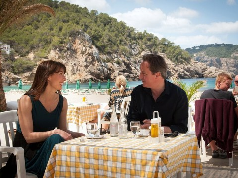Missing something, David? Cameron forgets his passport as he heads to Ibiza