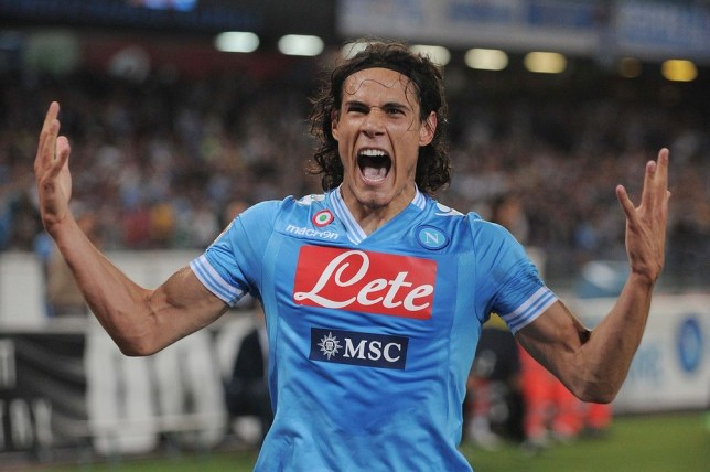 Chelsea hint: Napoli's Edison Cavani would love to link up with Jose Mourinho (Picture: AP)