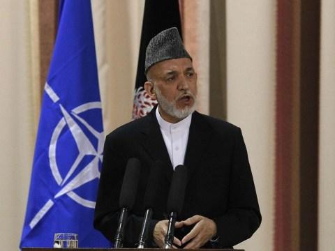 Afghan leader Hamid Karzai snubs the Taliban's talks with the US