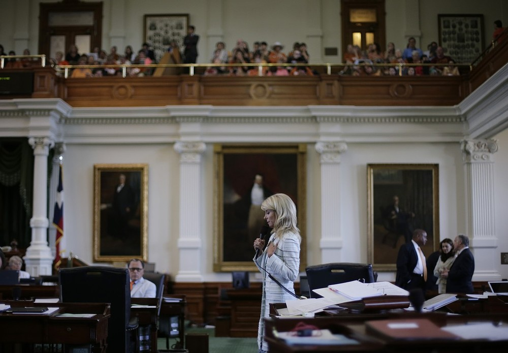 Wendy Davis' 11-hour filibuster fails but protesters still shout down Texas SB5 abortion bill