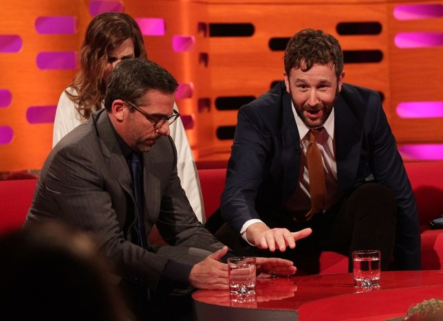 Steve Carell pays his respects to the fly on The Graham Norton Show (Picture:BBC)