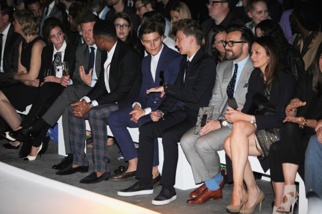 The star-studded front row at the Spencer Hart SS14 show during London Collections: Men (Picture: Spencer Hart)