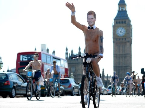 Gallery: Nude cyclists take to London streets for the world naked bike ride