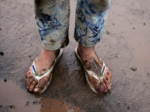Gallery: Rain arrives at Glastonbury 2013