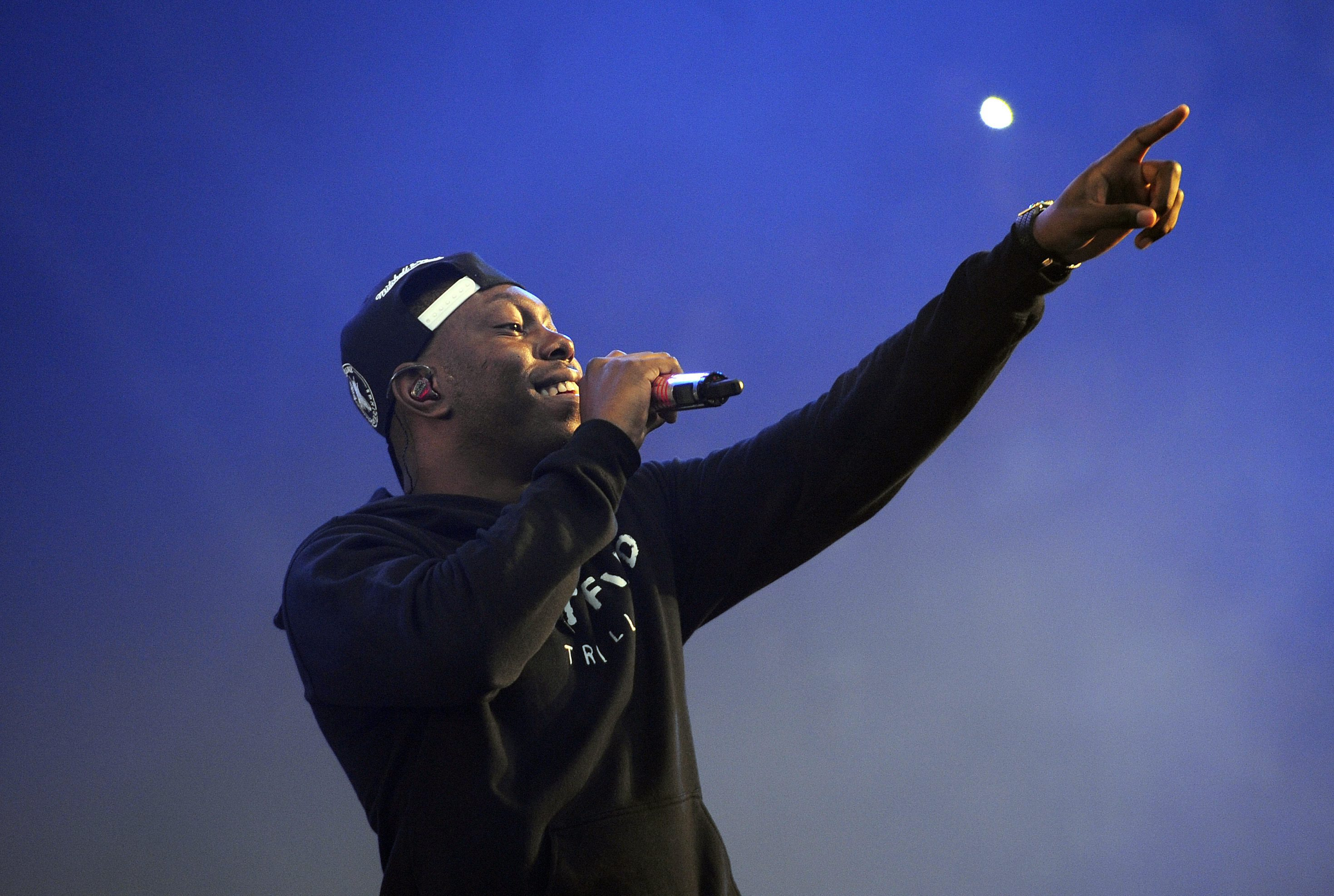 Smooth mover Dizzee Rascal performs (Picture: EPA)