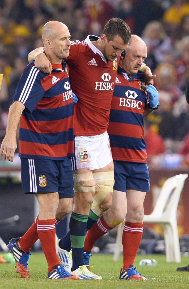 British and Irish Lions captain Sam Warb
