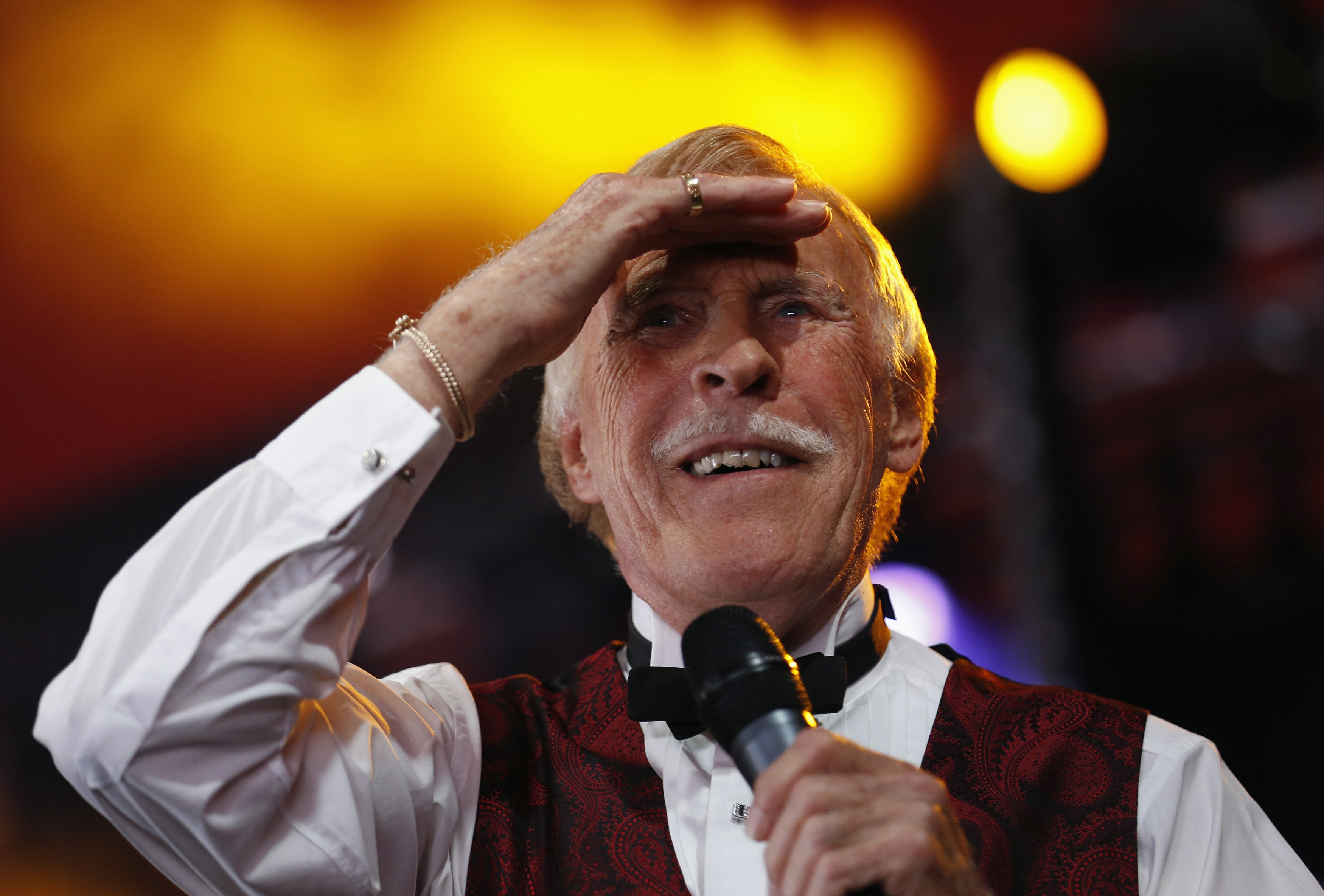 Bruce Forsyth performs on the Avalon Stage (Picture: Reuters)