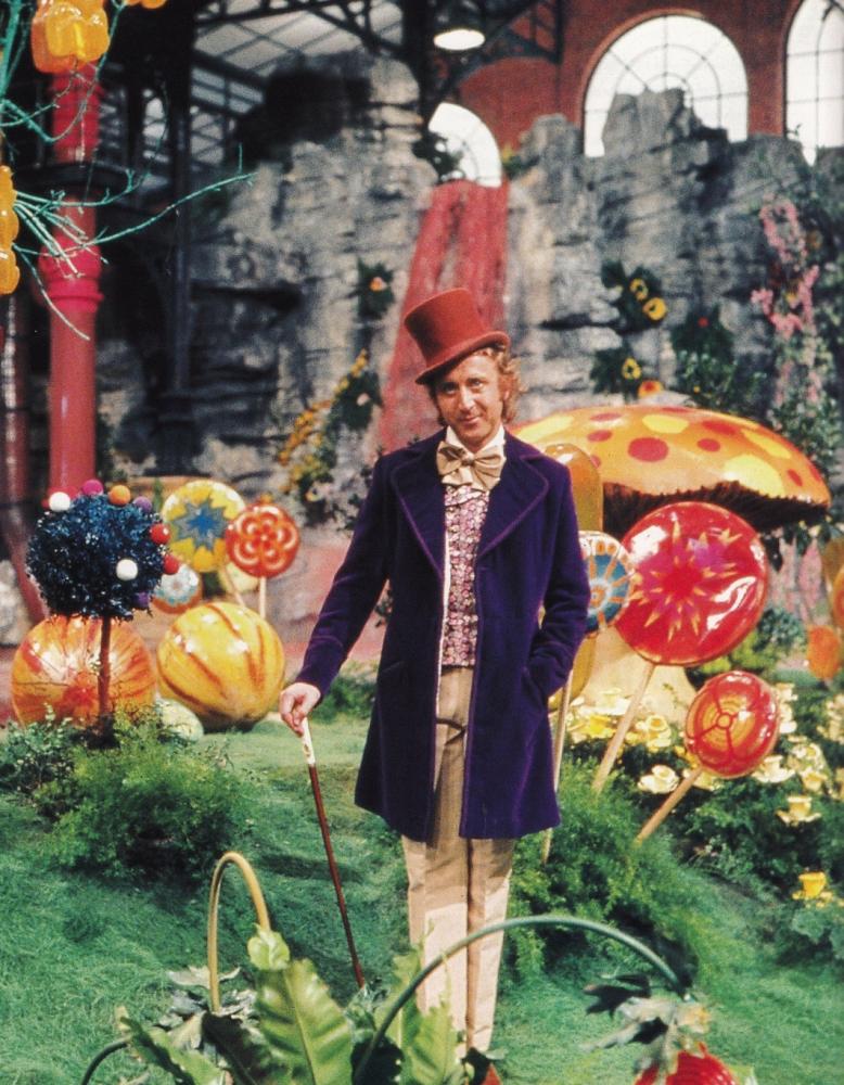 Film: Willy Wonka & the Chocolate Factory (1971), Starring Gene Wilder as Willy Wonka.