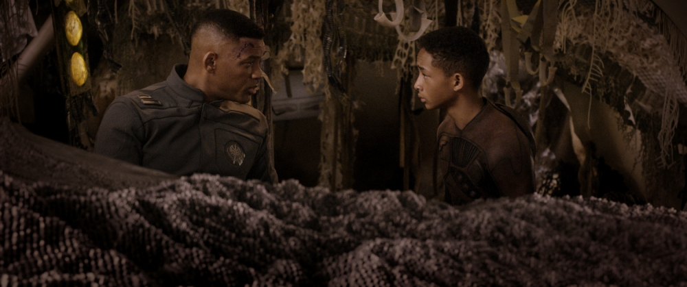 Will and Jaden Smith in the humourless drag After Earth (Picture: Columbia)