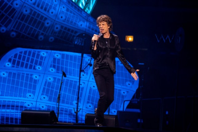 Singer Mick Jagger of the Rolling Stones performs at the United Center on Friday, May 31, 2013 in Chicago. (Photo by Barry Brecheisen/Invision/AP)