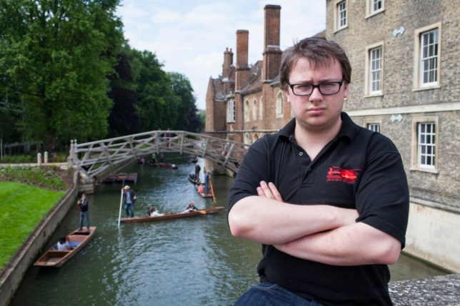 PIC BY MIKEY JONES / CATERS NEWS ( PICTURED BEN CRONIN ) - A student feels humiliated after being told he isnt good looking enough for a job on the River Cam, Cambs. Ben Cronin, a 20-year-old psychology student, was left shocked as a punt tout told him he was not attractive enough to work in the river punting industry. Ben, from Anglia Ruskin University, felt personally attacked by a sales rep after his polite enquiry for a job opening. Ben said: I was with a group of university friends when two of us decided to enquire after punting jobs for next season. SEE CATERS COPY