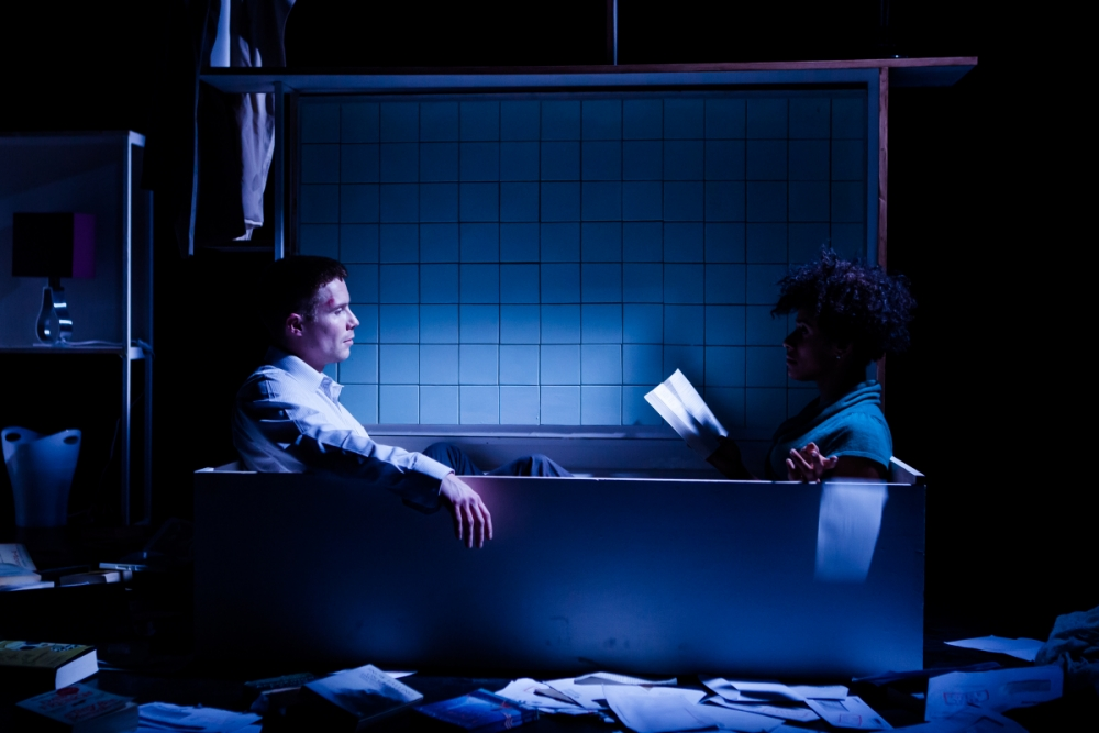 Lara Rossi and Joe Dempsie star in Brad Birch's Even Stillness Breathes Softly Against A Brick Wall (Picture: Richard Davenport)