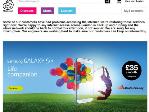 Three customers left without mobile data services