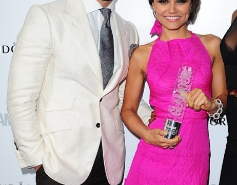 Samantha Barks and David Gandy 'inseparable' as they make public debut at Glamour awards