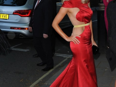 The Saturdays' Mollie King misses the mark in flesh-flashing red frock at Glamour awards