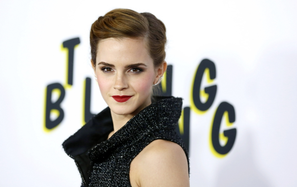 "Emma Watson arrives at the LA premiere of ""The Bling Ring"" at the Director's Guild of America on Tuesday, June 4, 2013 in Los Angeles. (Photo by Matt Sayles/Invision/AP)"