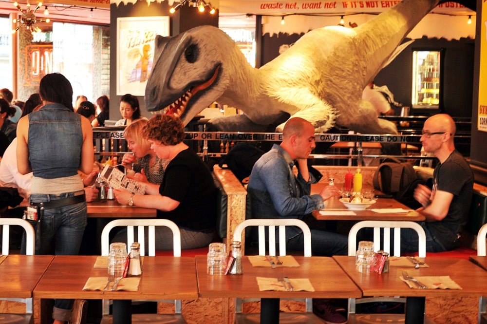 Jamie Oliver's Diner provides dude food with added dinosaurs – and shows promise