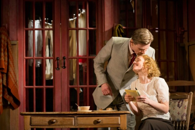 Charles Edwards cosies up to Anne-Marie Duff in Strange Interlude (Picture: Johan Persson)
