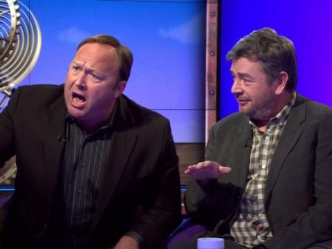 Alex Jones rants on BBC's Sunday Politics show, Andrew Neil calls him an 'idiot'