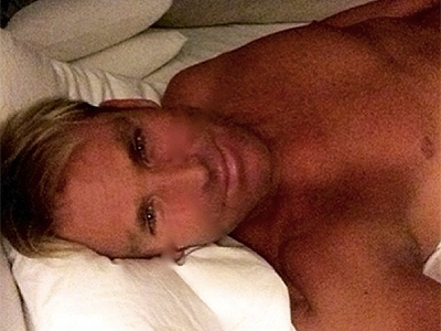 Shane Warne embarrasses daughters with topless 'selfie' shot as David Beckham jumps on the bandwagon