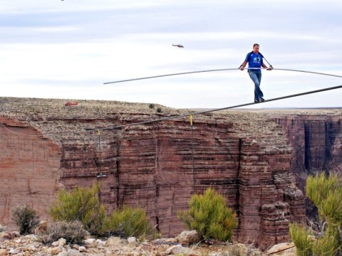 Gallery: Daredevil Nik Wallenda crosses Grand Canyon on tightrope