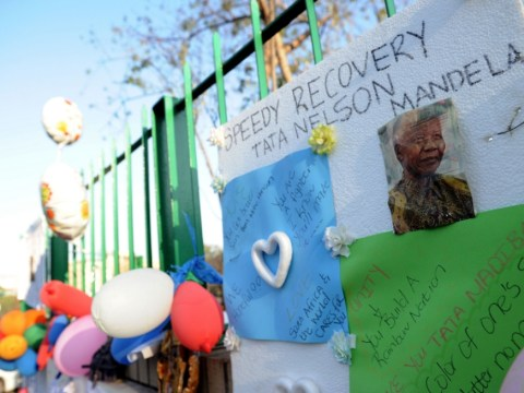 Gallery: Messages of support for Nelson Mandela