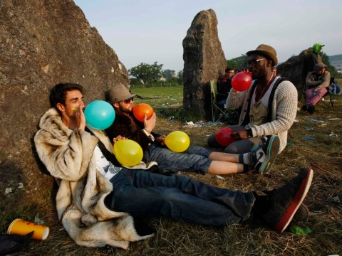 Laughing gas, or 'hippy crack', will be banned at Glastonbury this year