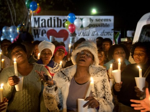 Gallery: Vigil for Nelson Mandela as South Africa waits for news