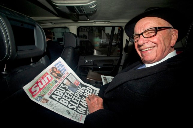 Police are assessing a secret tape recording that appears to include comments from News UK owner, Rupert Murdoch (Picture: AFP/Getty)