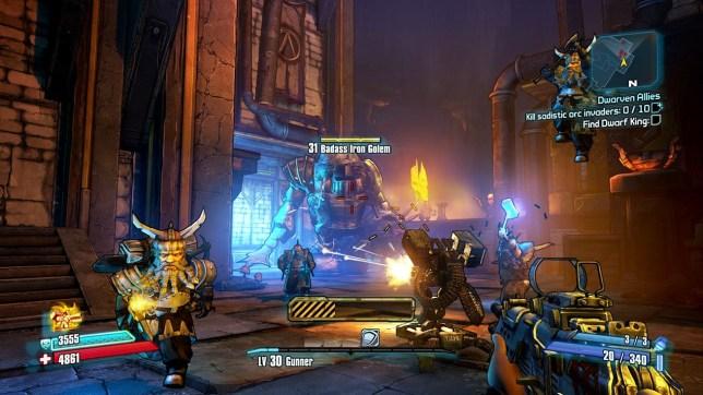 Borderlands 2: Tiny Tina's Assault On Dragon's Keep (360) – use the +3 gun of baddassery