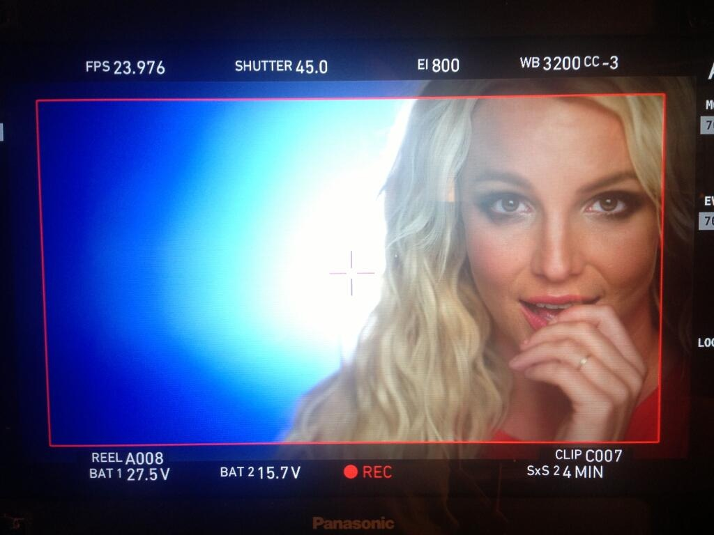 Britney tweeted this pic of herself on the set for the video of her single Ooh La La (Picture: Twitter/britneyspears)
