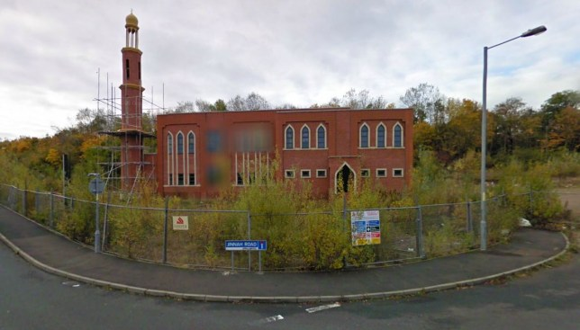 The mosque is in Jinnah Road, Redditch (picture: Google Maps)