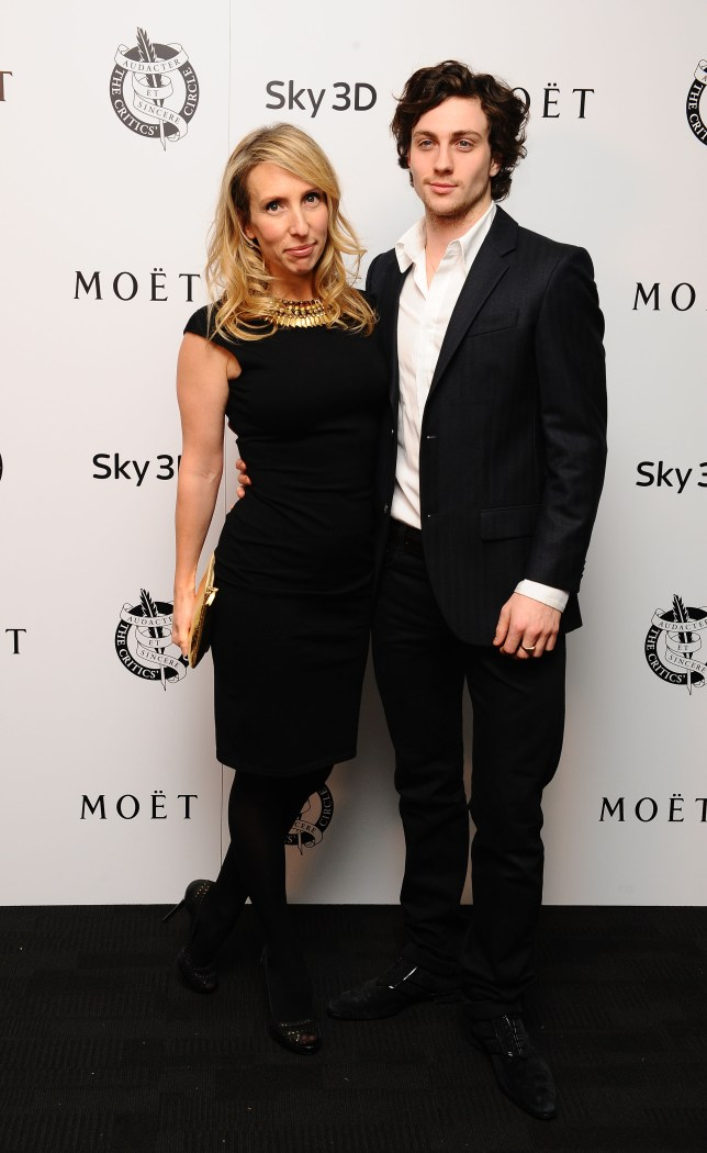 Aaron Taylor-Johnson with his wife Sam, who is directing Fifty Shades of Grey (Picture: PA)