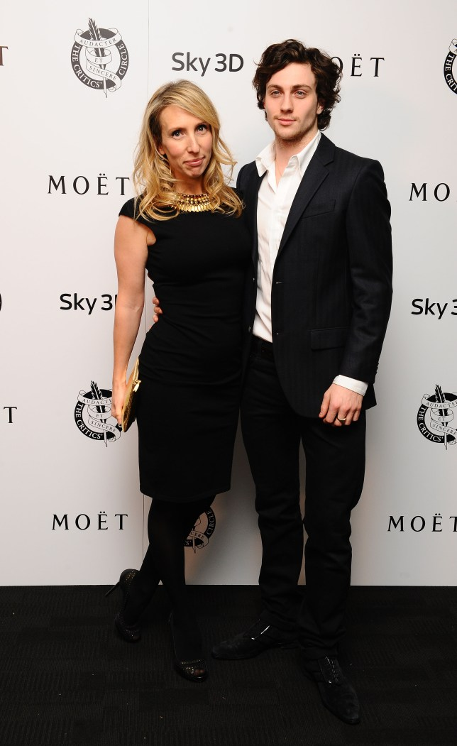 Aaron Taylor-Johnson with his wife Sam (Picture: PA)
