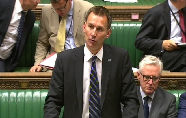 Jeremy Hunt says it's too early to decide on whether plain packaging for cigarettes is an effective measure (Picture: PA)