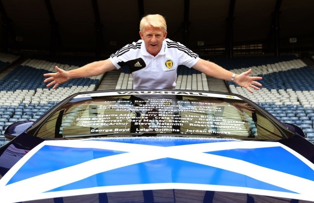Scotland manager Gordon Strachan during the squad announcement for their International match against England in August, during a photocall at Hampden Park, Glasgow. PA Wire/Press Association Images