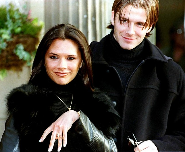 David and Victoria Beckham announce their engagement in 1998 (PA Wire/Press Association Images)