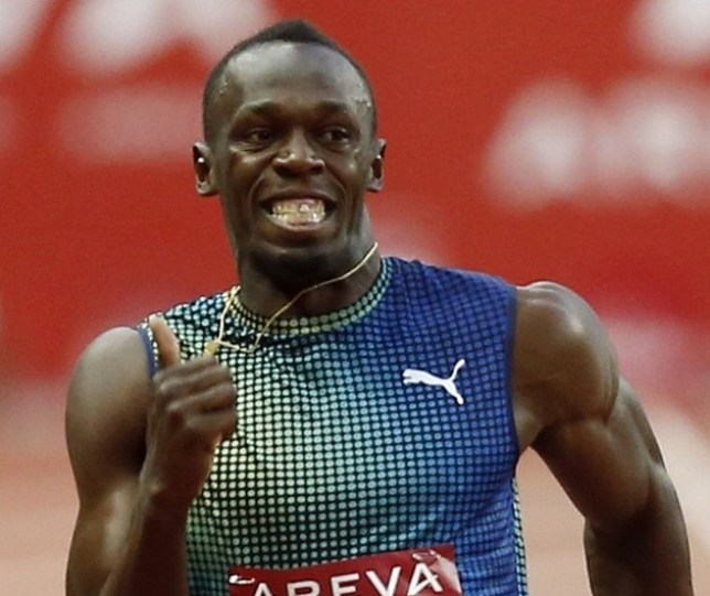 Leading the way: Bolt is still sprinting's flag-bearer (Picture: Reuters)