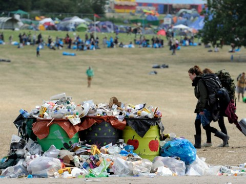 Gallery: Glastonbury Festival 2013 clean up and departures