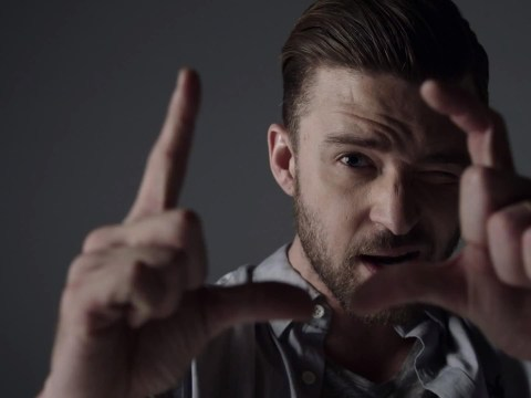 Justin Timberlake projects his face onto naked female dancers in Tunnel Vision video