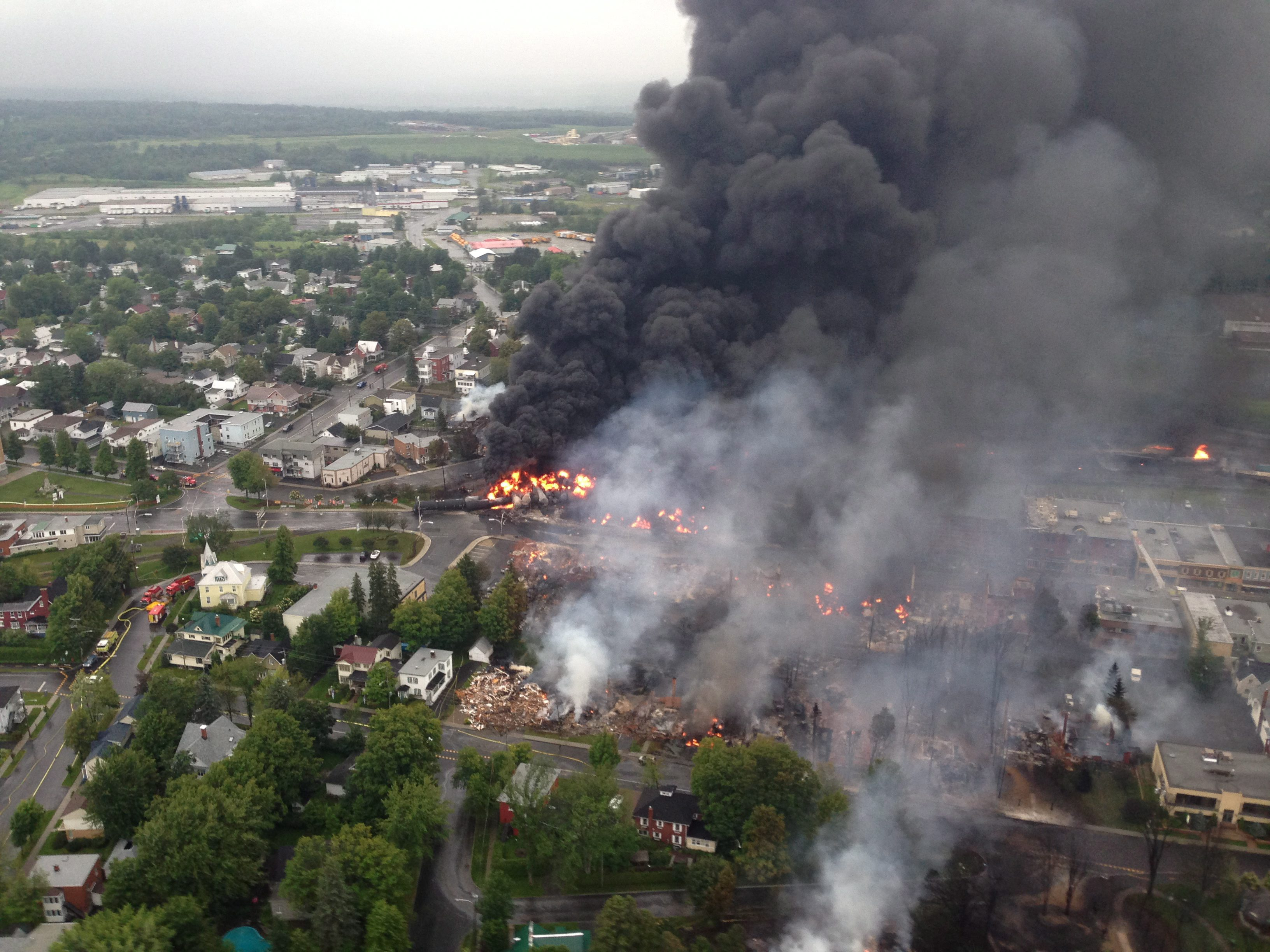 Gallery: Runaway train explodes in Canada