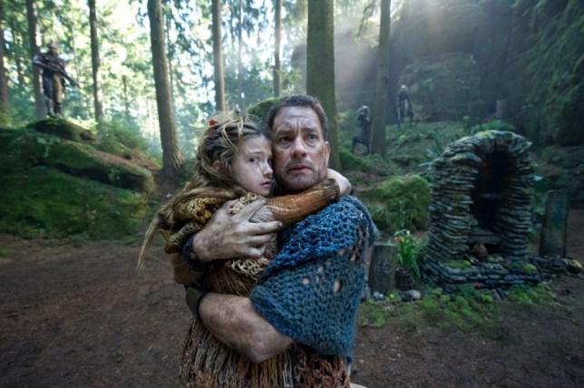 Raevan Lee Hana and Tom Hanks star as multiple characters in Cloud Atlas (Picture: Warner Bros)