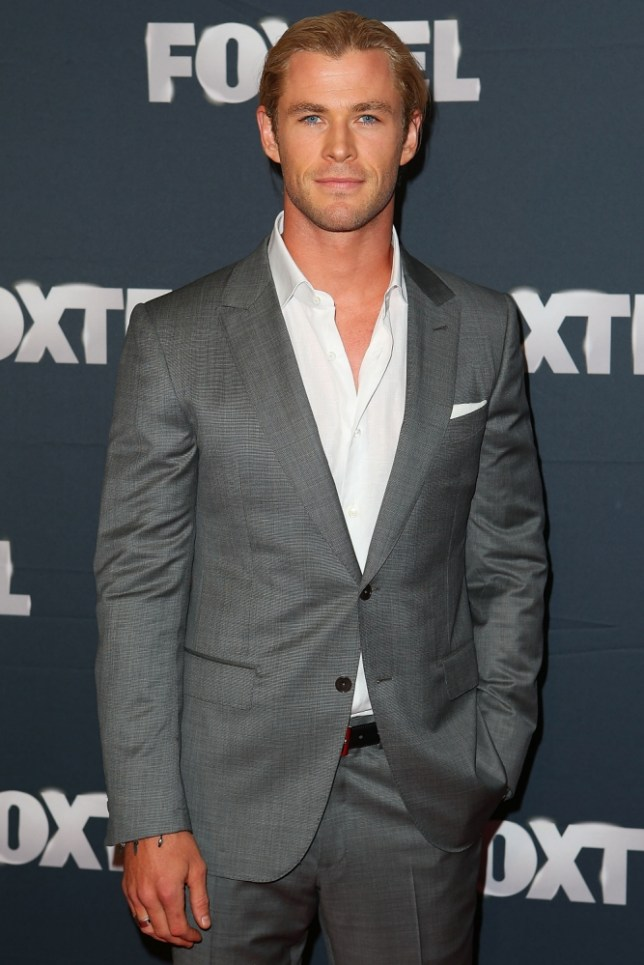 SYDNEY, AUSTRALIA - FEBRUARY 20:  Chris Hemsworth attends the 2013 Foxtel Launch at Fox Studios on February 20, 2013 in Sydney, Australia.  (Photo by Brendon Thorne/Getty Images)