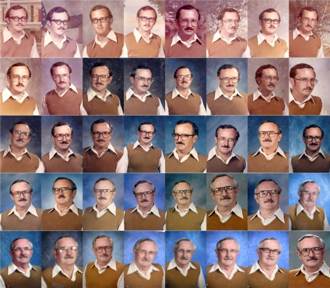 Teacher rocks same yearbook photo outfit for 40 years